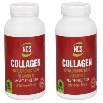 Ncs Hidrolize Collagen 1000 Mg Hyaluronic Acid C vitamini 90 Tablet 2 Kutu